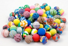 100 x Flummi 27 mm Flummis Springball Hüpfball Ball -