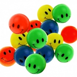 12 Smiley Flummi 38 mm - Mitgebsel Kindergeburtstag -