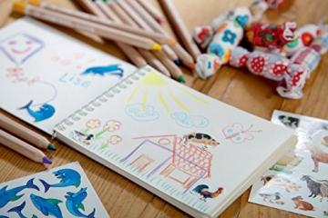Avery Zweckform 53193 Kinder Sticker, Tiere, 42 Aufkleber -