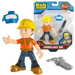 Bob der Baumeister - Figuren Set - Spielfigur Bob mit Motorsäge -