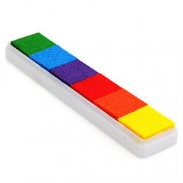 CARCHET® Stempelkissen Inkpad Stamp Pad Fingerdruck 6 Farben NICHT TOXISCH kindersicher -