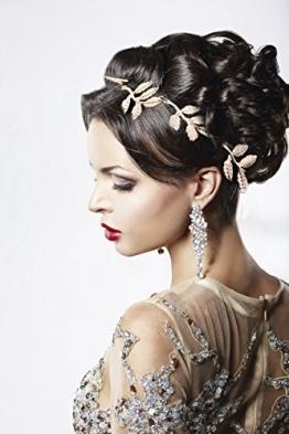 Elastisches Haarband Haarkette Stirnband Stirnschmuck Haar Kopfschmuck in Gold von der Marke MyBeautyworld24 -