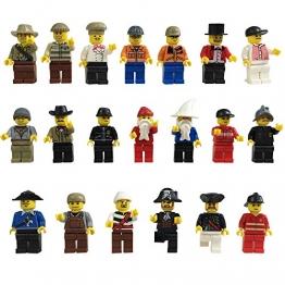 Katara - Spielset aus 20 kompatiblen Figuren; Themenwelt Pirat und Cowboy; kombinierbar mit anderen Plastik Bausteinen, mehrfarbig -