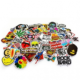 Oblique-Unique® Aufkleber 100 Stück Sticker Graffiti Style Reisen Skateboard Snowboard Vinylaufkleber Graffiti Laptop Gepäck Auto Fahrrad -