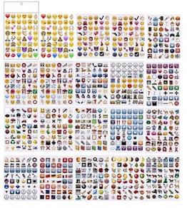 PartyErasers 20 Blatt Jumbo-Pack Emoji-Aufkleber (960 Aufkleber) -