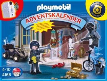 PLAYMOBIL 4168 - Adventskalender Polizeialarm! Schatzräuber auf der Flucht -