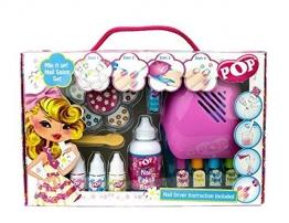 POP Geschenk: Nagellack-Design-Set + Nageltrockner + Sticker - für Kinder -