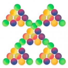 S/O® 50er Pack Flummi Frost 27mm Flummis Springball Hüpfball Mitgebsel Tombola Kindergeburtstag -