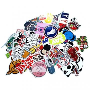 StillCool® 200pcs shifashionshop Aufkleber für Skateboard Snowboard-Weinlese-Vinylaufkleber-Graffiti Laptop Gepäck Auto-Fahrrad-Decals mischen Lot Art- und Weisekühler (200pcs) -