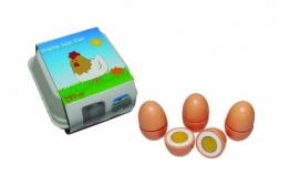 Tanner 0957.6 - Holzspielzeug, 4 Eier zum Schneiden im Karton -